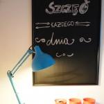 Lampka Spot Light. Tablica projektu Doroty. Na ścianie farba Śnieżka.